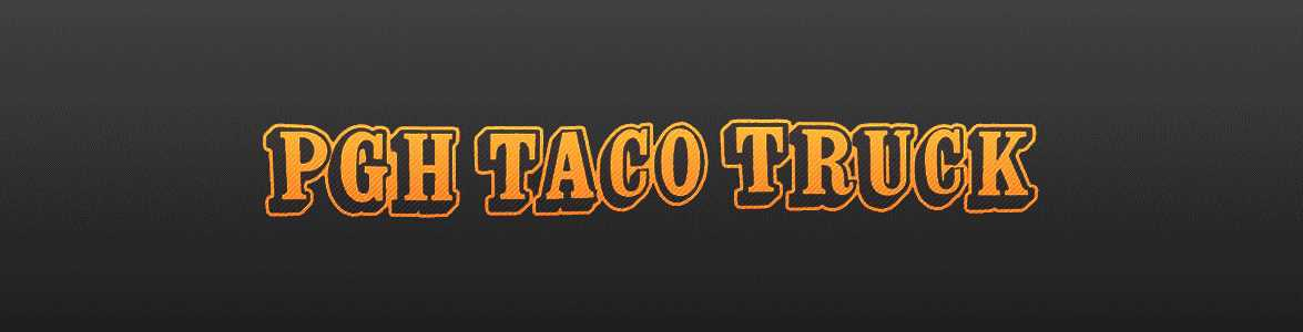 pittsburgh taco truck banner