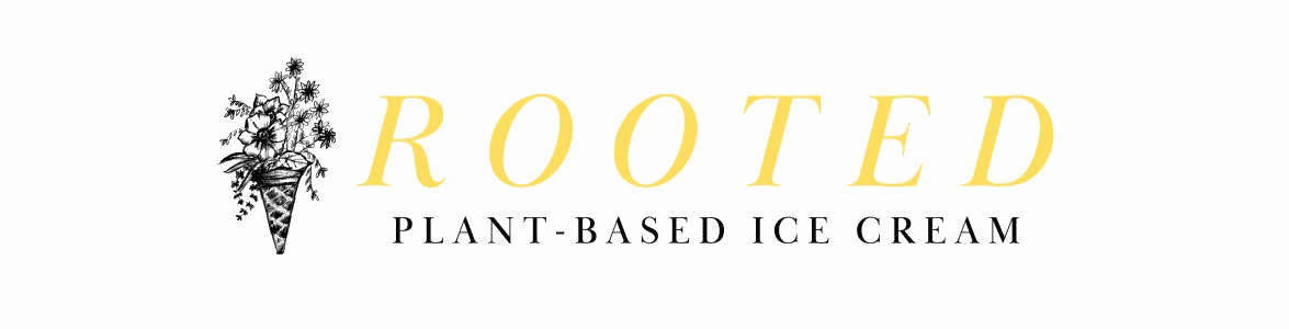 rooted ice cream banner